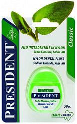 Президент флосс зубная нить фито классик с шалфеем 50м арт.108