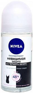 Нивея дезодорант-антиперспирант ролик невидимая защита клиа (82240) 50мл