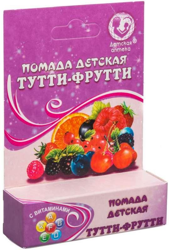 Детская аптека помада тутти-фрутти 4,1г, фото №1