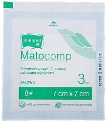 Матопат матокомп салфетки стерильные 7х7 8с17н 3 шт.