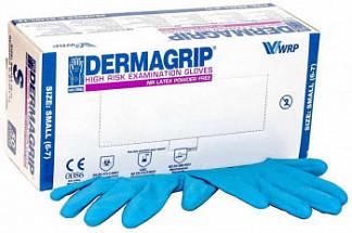 Дермагрип хай риск перчатки смотровые латексные нестерильные неопудренные сверхпрочные размер s 25 шт. пар