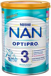 Нестле нан оптипро 3 смесь молочная 400г