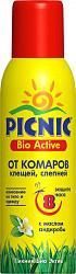 Пикник био актив аэрозоль от комаров/клещей/слепней 125мл