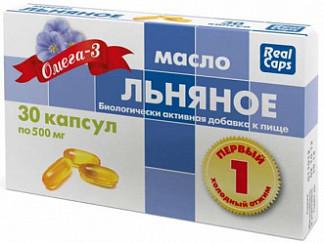 Масло льняное первый холодный отжим 0,5г капсулы 30 шт.