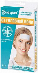 Экстрапласт пластырь от головной боли охлаждающий 5х12см 2 шт.