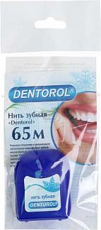 Денторол зубная нить вощеная мятная 65м