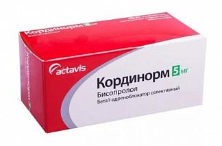 Кординорм 5мг 30 шт. таблетки покрытые пленочной оболочкой