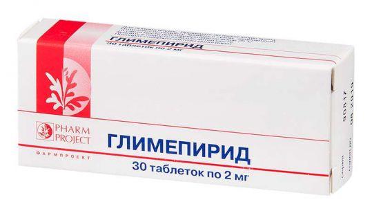Глимепирид 2мг 30 шт. таблетки, фото №1