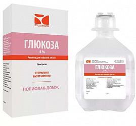 Глюкоза 5% 200мл раствор для инфузий