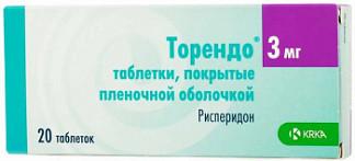 Торендо 3мг 20 шт. таблетки покрытые пленочной оболочкой