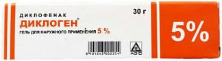 Диклоген 5% 30г гель для наружного применения