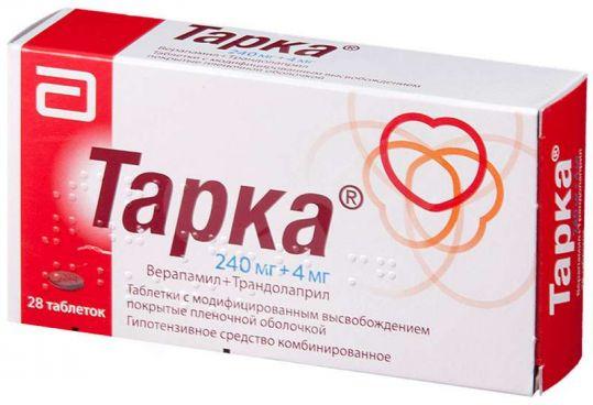 Тарка 4мг+240мг 28 шт. таблетки модифицированного высвобождения покрытые пленочной оболочкой, фото №1
