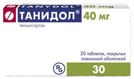 Танидол 40мг 30 шт. таблетки покрытые пленочной оболочкой, фото №1