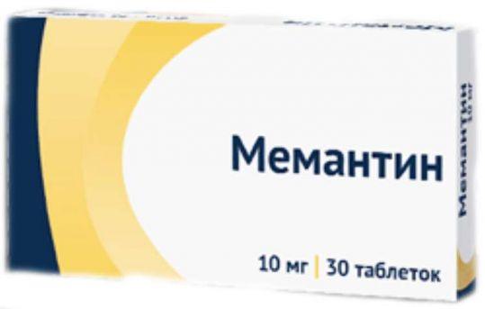 Мемантин 10мг 30 шт. таблетки покрытые пленочной оболочкой, фото №1