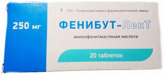 Фенибут-лект 250мг 20 шт. таблетки