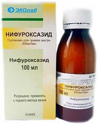 Нифуроксазид 200мг/5мл 100мл суспензия для приема внутрь