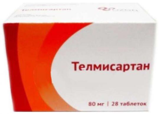 Телмисартан 80мг 28 шт. таблетки, фото №1