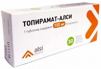 Топирамат-алси 100мг 30 шт. таблетки покрытые пленочной оболочкой