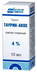 Таурин-акос 4% 10мл капли глазные