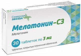 Мелатонин-сз 3мг 30 шт. таблетки покрытые пленочной оболочкой