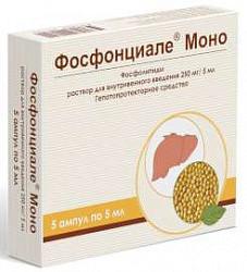 Фосфонциале моно 250мг/5мл 5 шт. раствор для внутривенного введения
