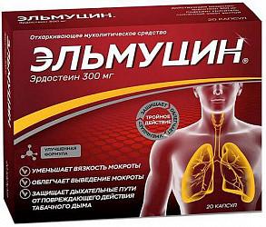 Эльмуцин 300мг 20 шт. капсулы