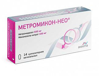 Метромикон нео 500мг+100мг 14 шт. суппозитории вагинальные