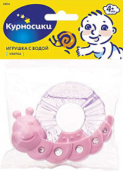 Курносики прорезыватель с водой улитка арт.23074
