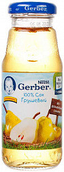 Гербер (gerber) сок грушевый 175мл