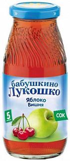 Бабушкино лукошко сок яблоко/вишня 5+ 200мл