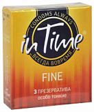 Ин тайм презервативы особо тонкие 3 шт.