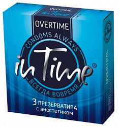 Ин тайм презервативы с анестетиком 3 шт.