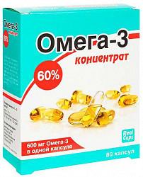 Омега-3 капсулы 60% концентрат 600мг (1г) 80 шт.