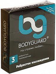 Бодигард презервативы ребристые 3 шт. кит