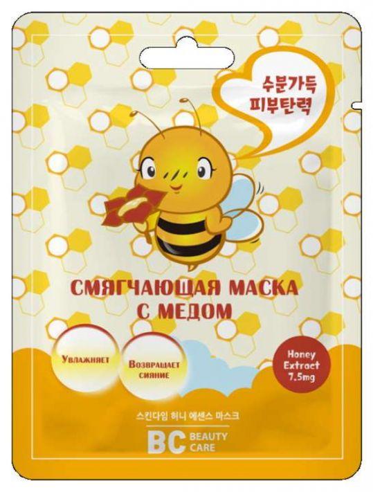 Бьюти кеа маска для лица тканевая смягчающая с медом 26мл, фото №1