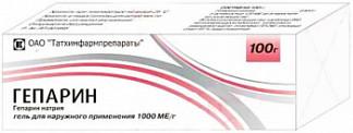 Гепарин 1000ме/г 100г гель для наружного применения
