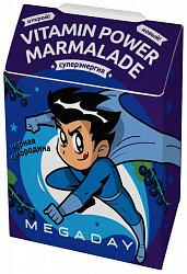 Мегадэй мармелад жевательный с витаминами черная смородина 20г