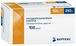 Урсодезоксихолевая кислота-вертекс 250мг 100 шт. капсулы