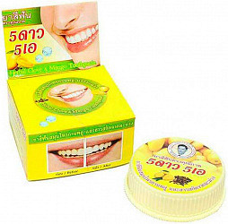 5 стар косметик зубная паста отбеливающая с экстрактом манго 25г