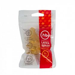 Хеппи бэби соска силиконовая узкое горло 2 шт. арт.12012