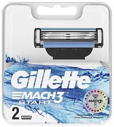 Жиллет мак3 старт кассеты сменные для безопасных бритв 2 шт.