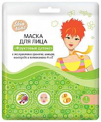 Скин тюн маска для лица на тканевой основе фруктовый детокс 1 шт.