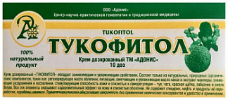 Тукофитол крем для интимной гигиены дозированный 10 шт. адонис