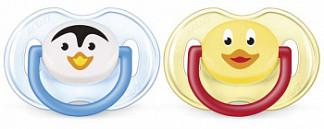 Авент пустышка силиконовая для мальчиков 0-6 месяцев (scf182/12) 2 шт.