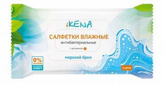 Икена салфетки влажные антибактериальные морской бриз 15 шт.