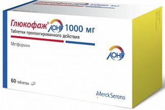 Глюкофаж лонг 1000мг 60 шт. таблетки пролонгированного действия merck sante