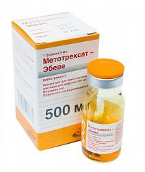 Метотрексат-эбеве 500мг/5мл 1 шт. концентрат для приготовления раствора для инфузий