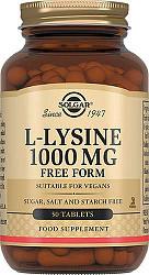 Солгар л-лизин таблетки 1000мг 50 шт.