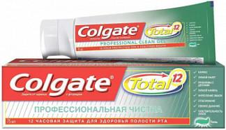 Колгейт тотал 12 зубная паста профессиональная чистка гель 75мл