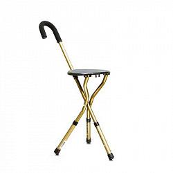 Амрус трость металлическая комбинированная со складным стулом арт.amcs37